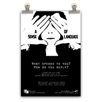a sense of language school of art poster