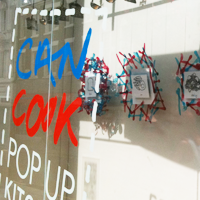can cook pop up store display window