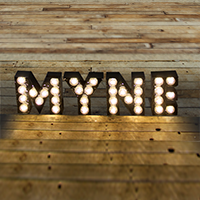 MYNE boutique lights fairground signage circus light