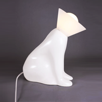 pawly dog light lamp mascot hand crafted sculpted