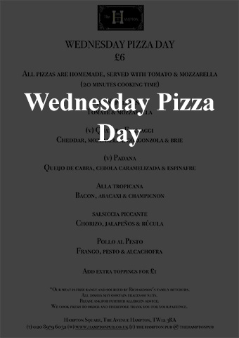wednesday pizza day