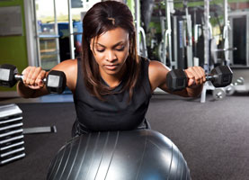 african american woman working out
