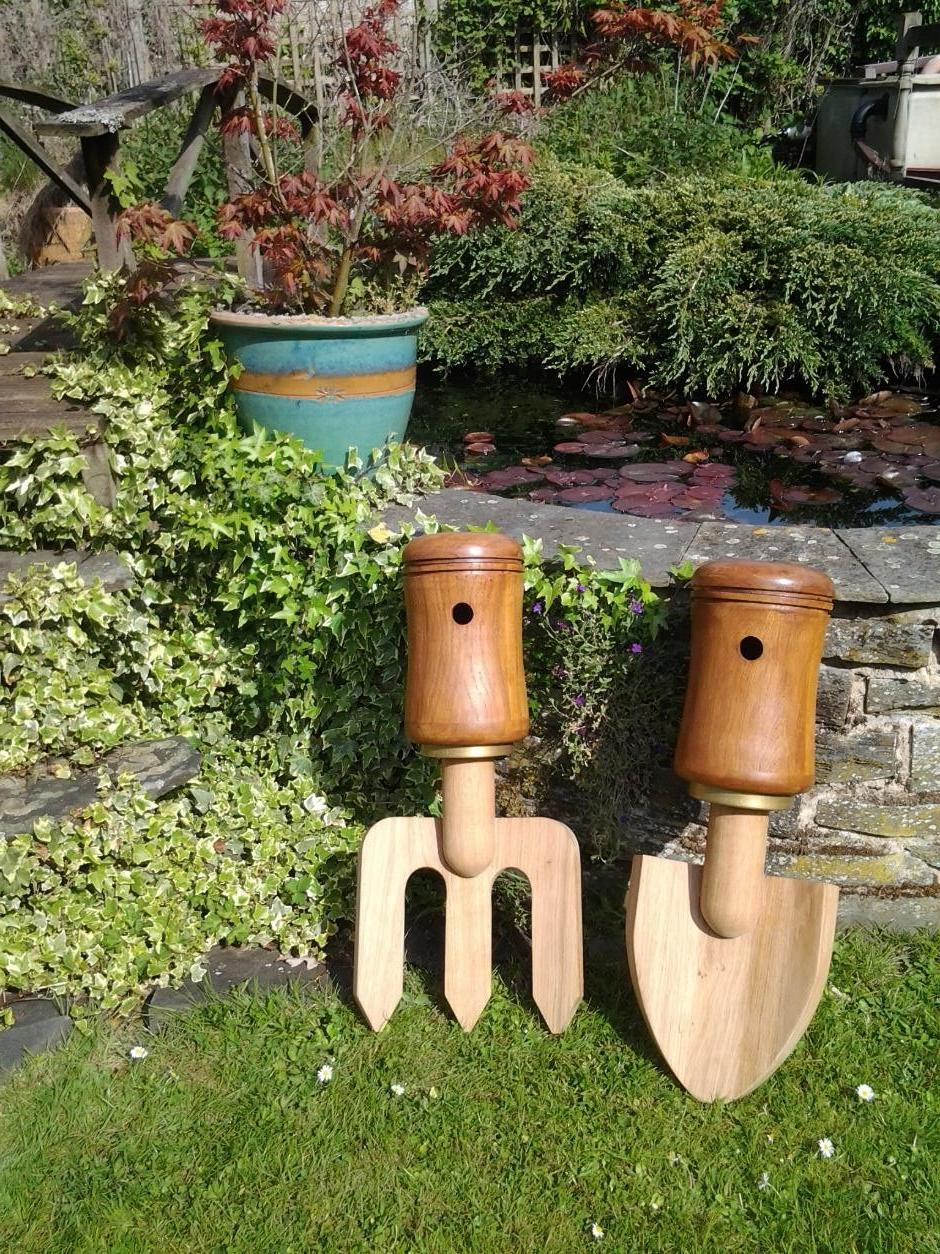 fork and trowel bird boxes by Simmo
