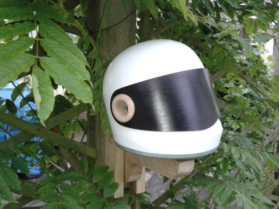Stig helmet bird box