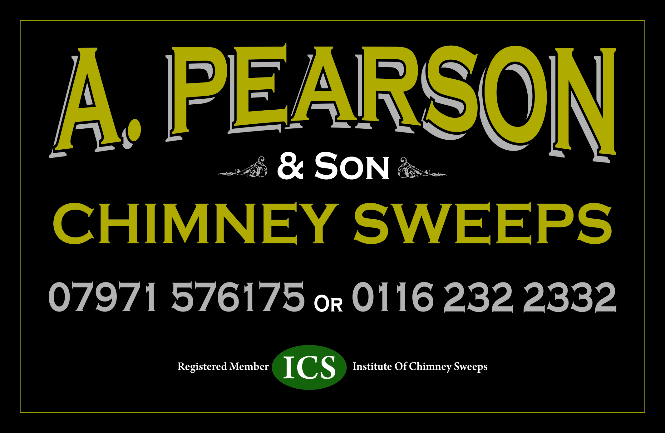 A. PEARSON & SON CHIMNEY SWEEPS LEICESTER