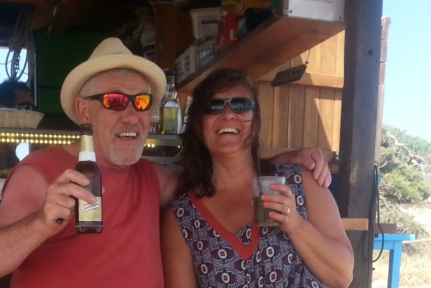 Tracy Berry in Formentera with her husband Mike