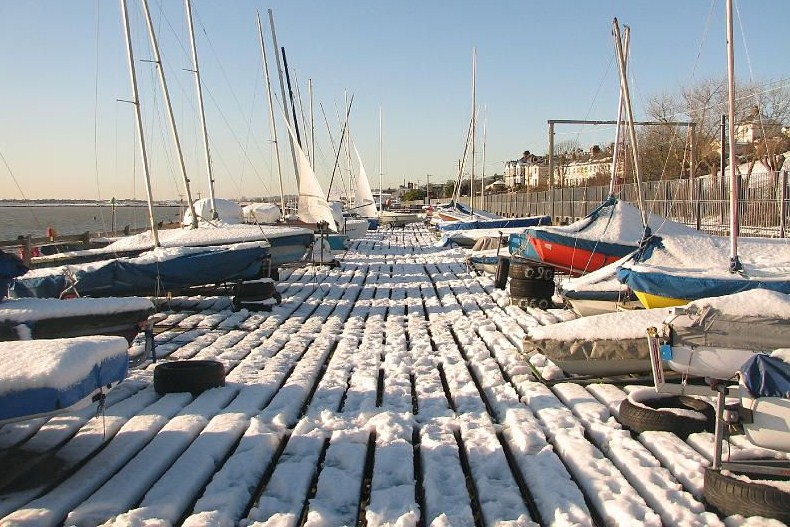 Lovely Leigh-on-Sea in the winter snow