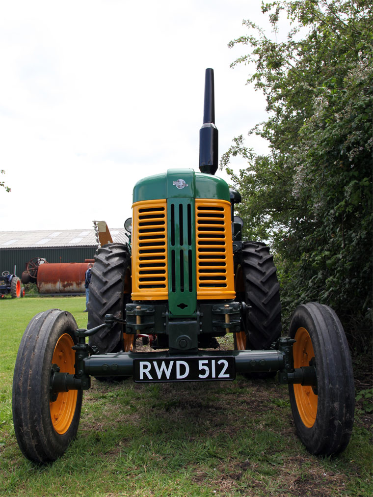 Front view of Turner Manufacturing 'Yeoman of England' tractor