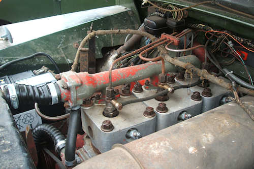Turner L60 engine fitted in my own Land-Rover viewed from one side