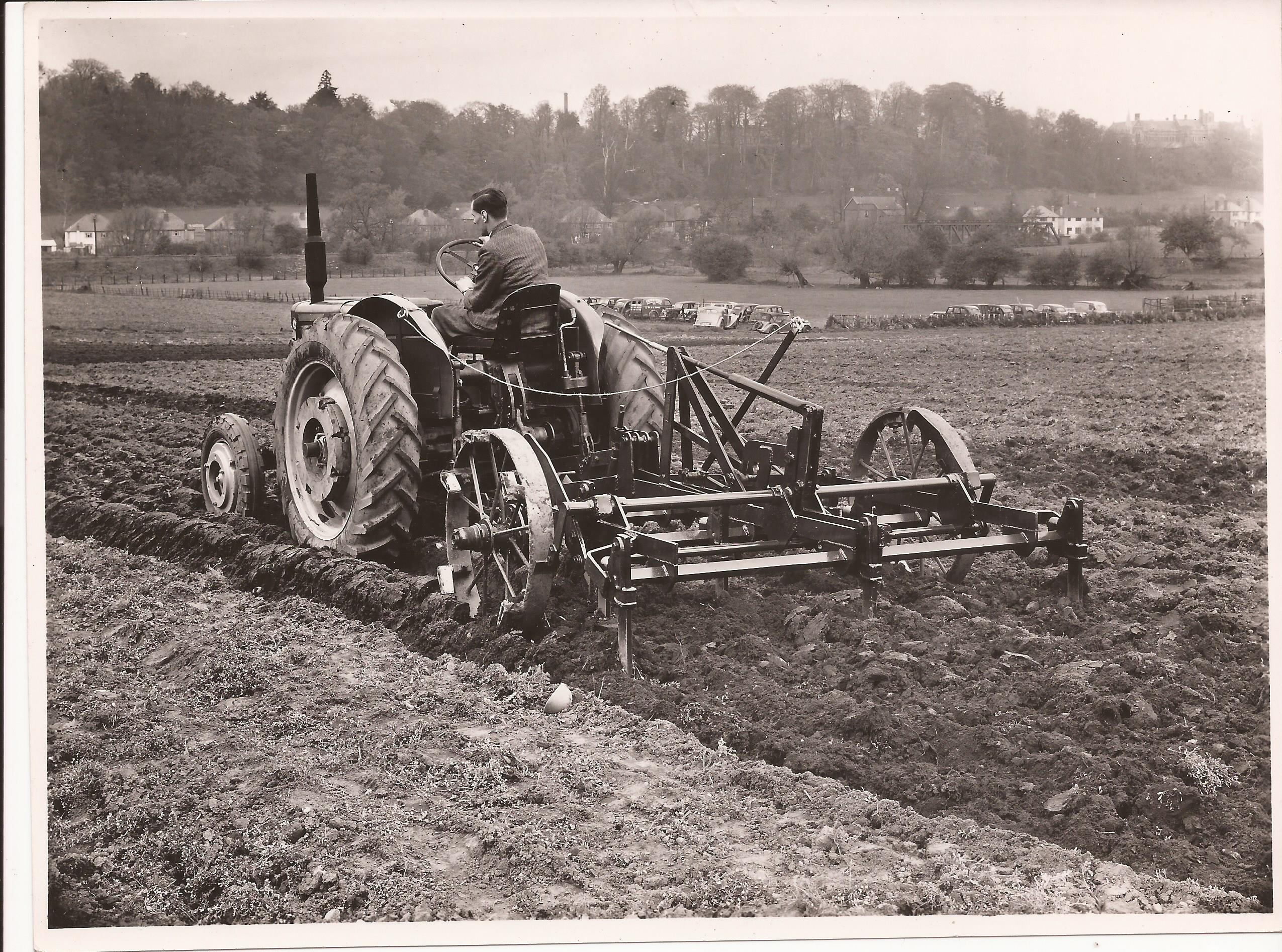 Turner towing a Levertons of Spalding manufactured cultivator