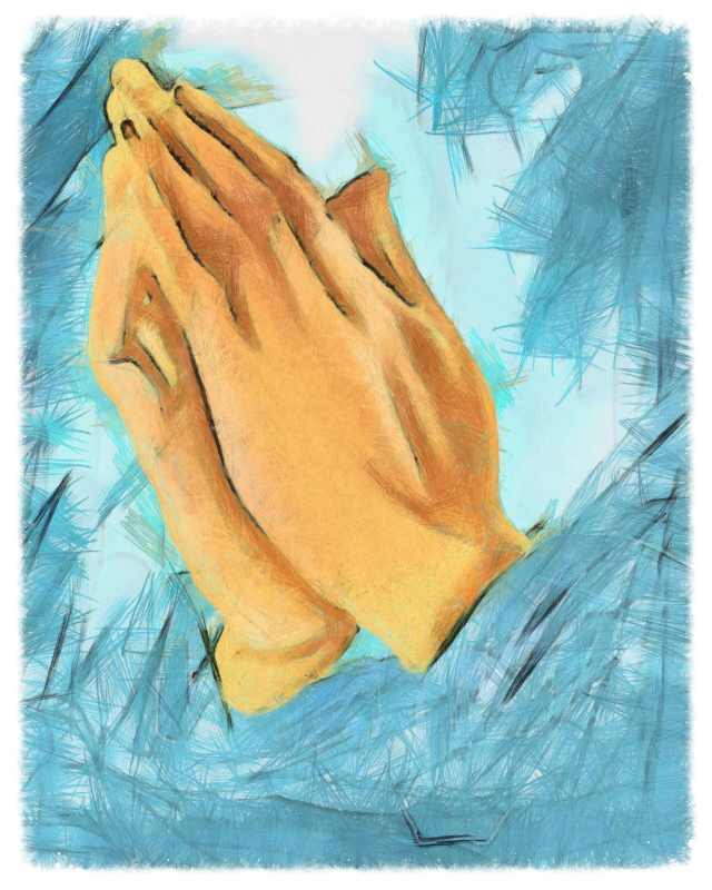 fusions of oneness, hands in prayer
