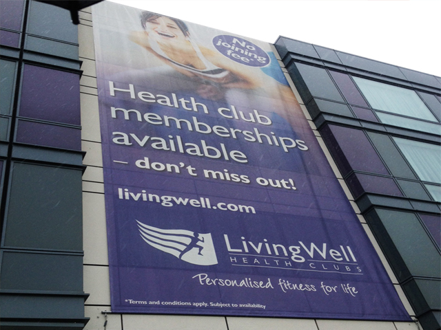 Large format banner at Hilton Reading