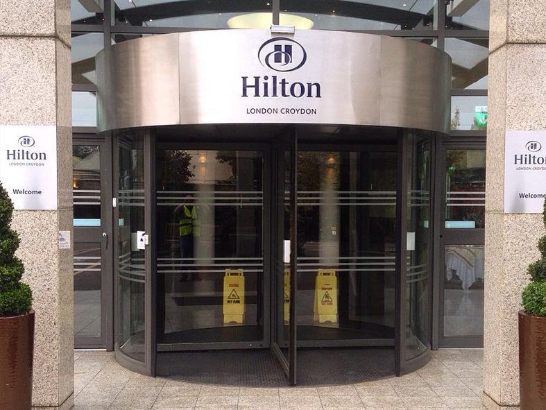 External signage at Hilton London Croydon