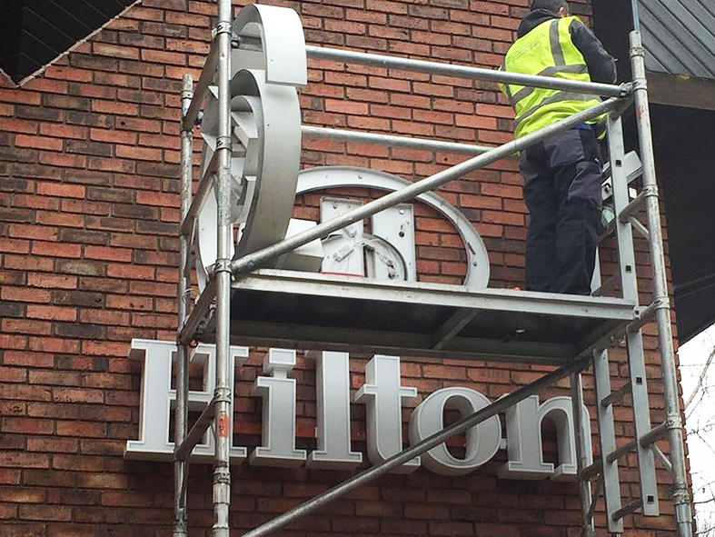LED signage upgrade at Hilton Southampton