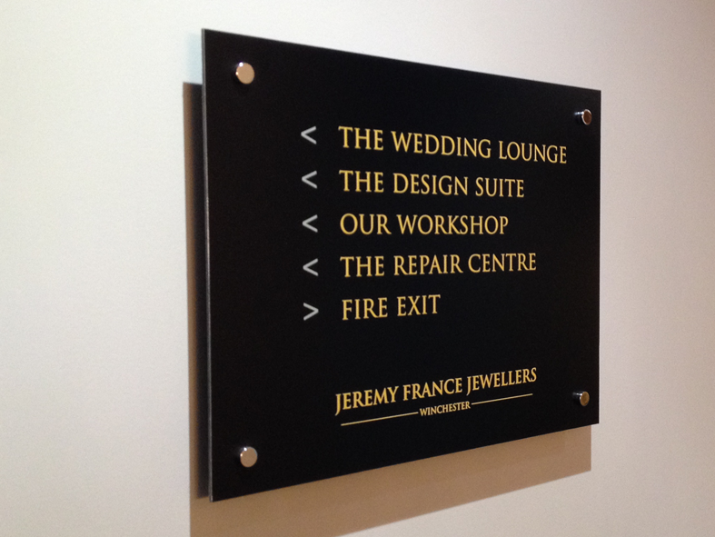 Directional signage at Jeremy France