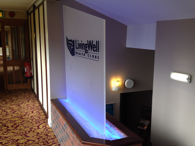 LivingWell Health Club entrance signage