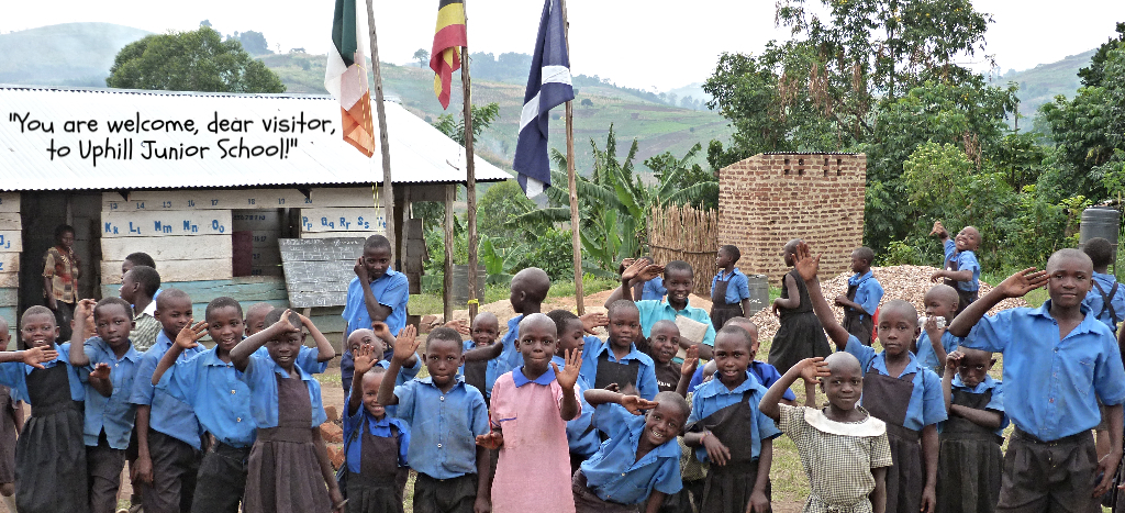 Uphill School School children welcome visitors to the school