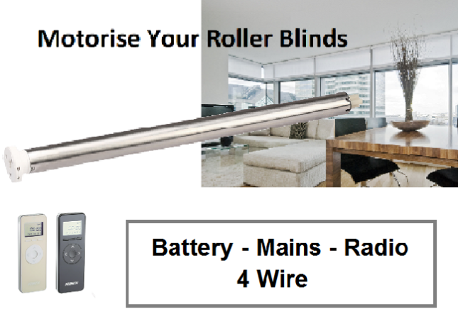 Battery power roller blinds