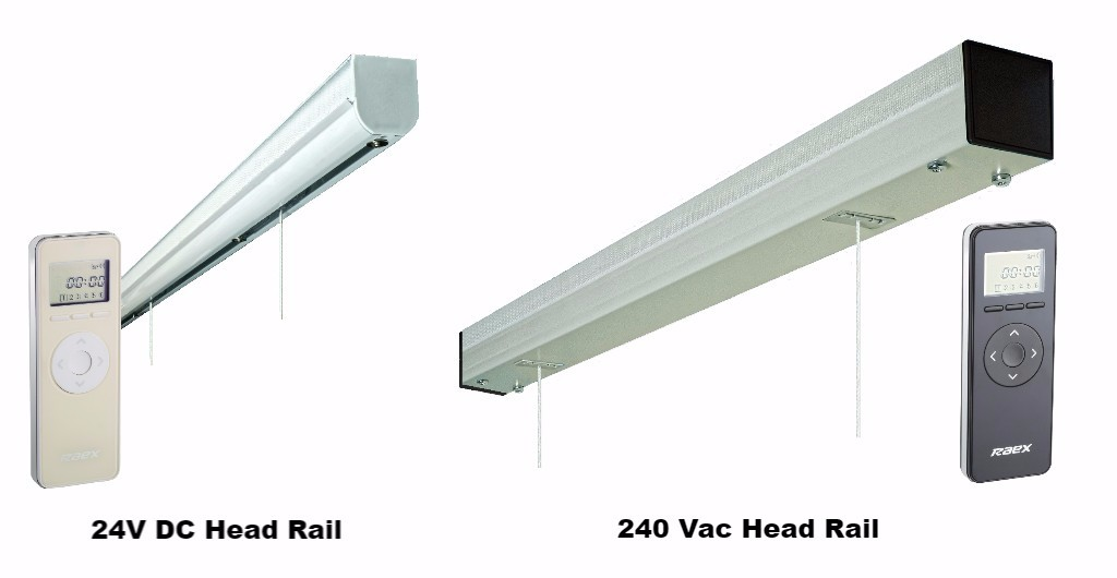 Electric Roman Blinds Head Rails