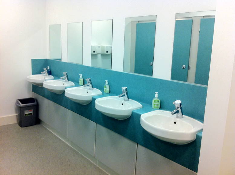 Lauriston Hall washbasins