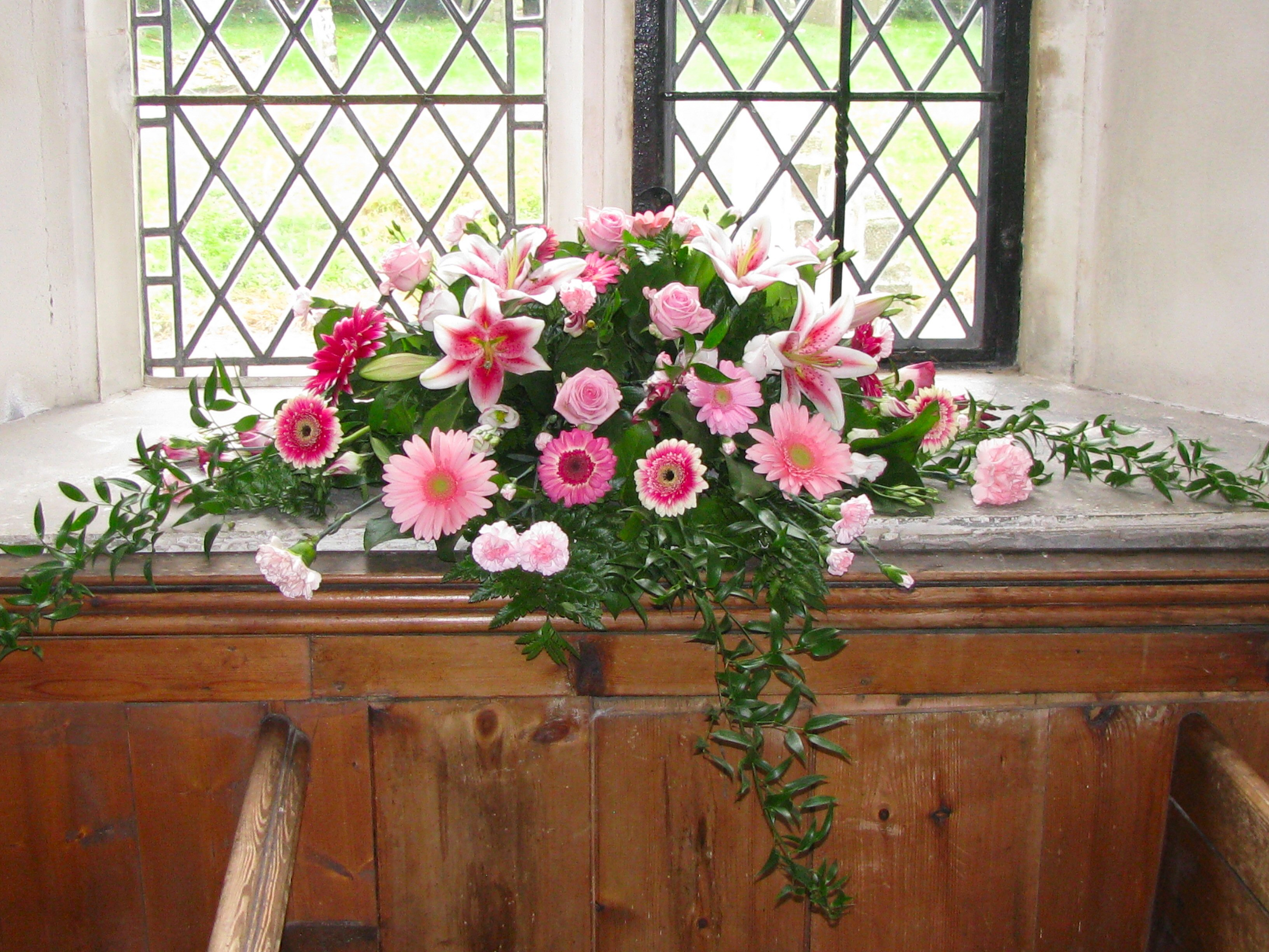 Pink Window Arrangement