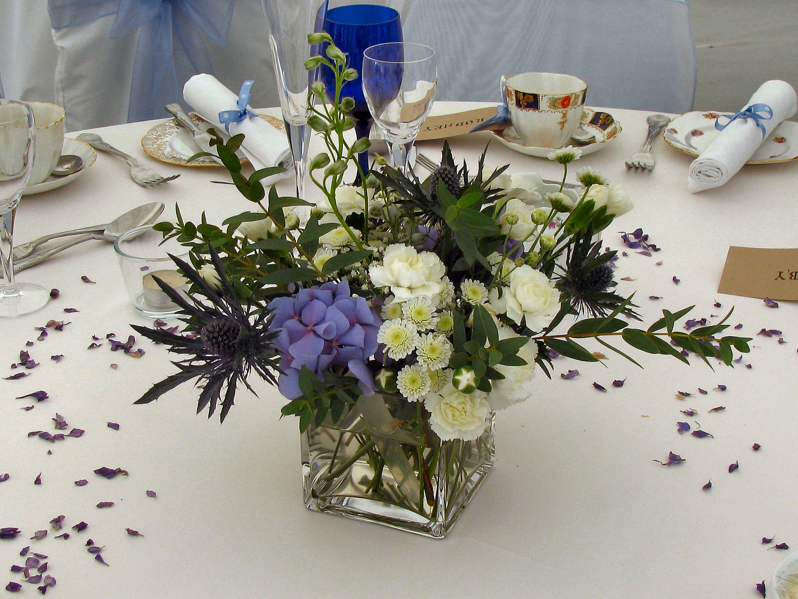 Marquee Table Flowers