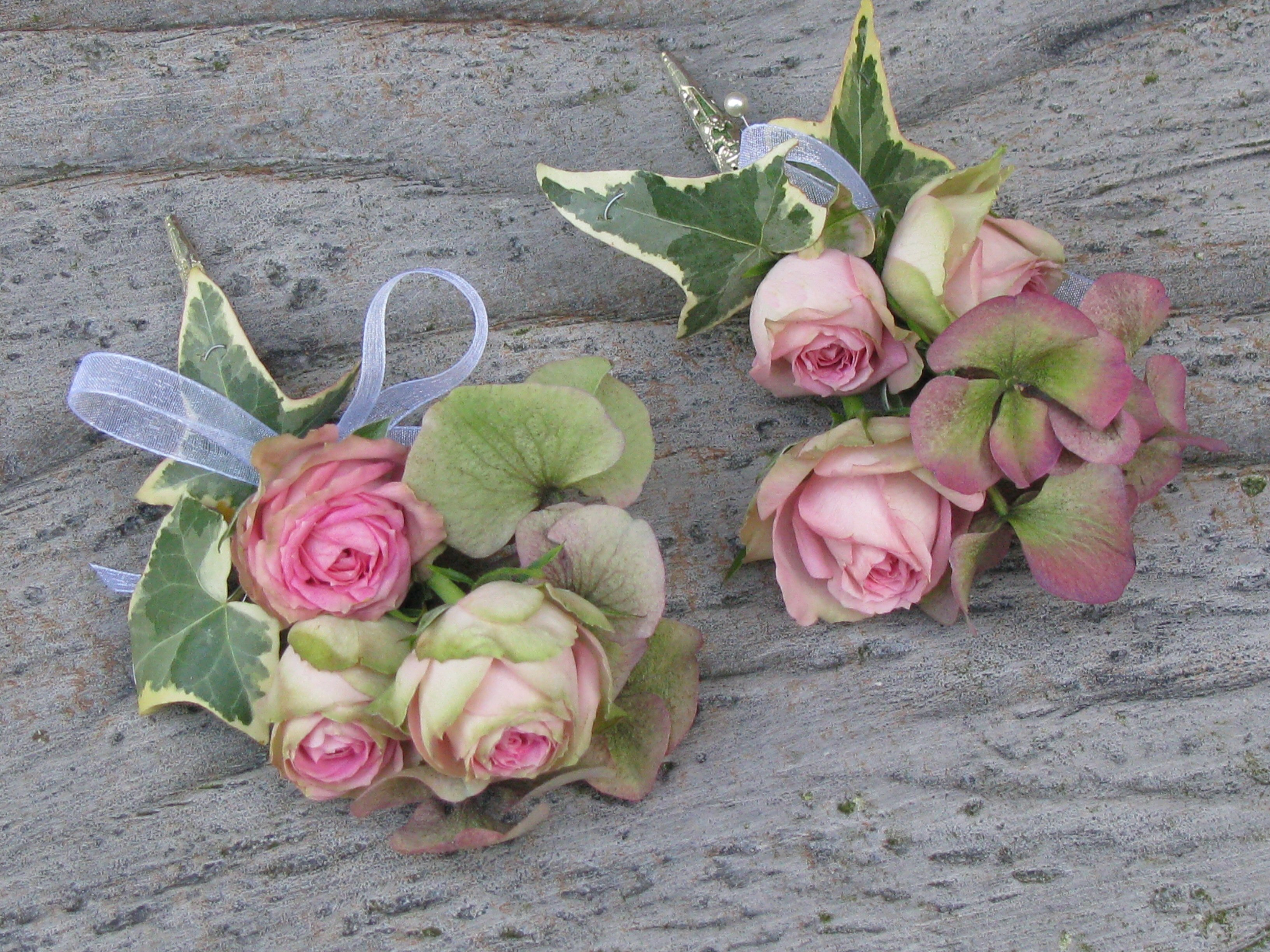 Beautiful Antique Rose Corsage