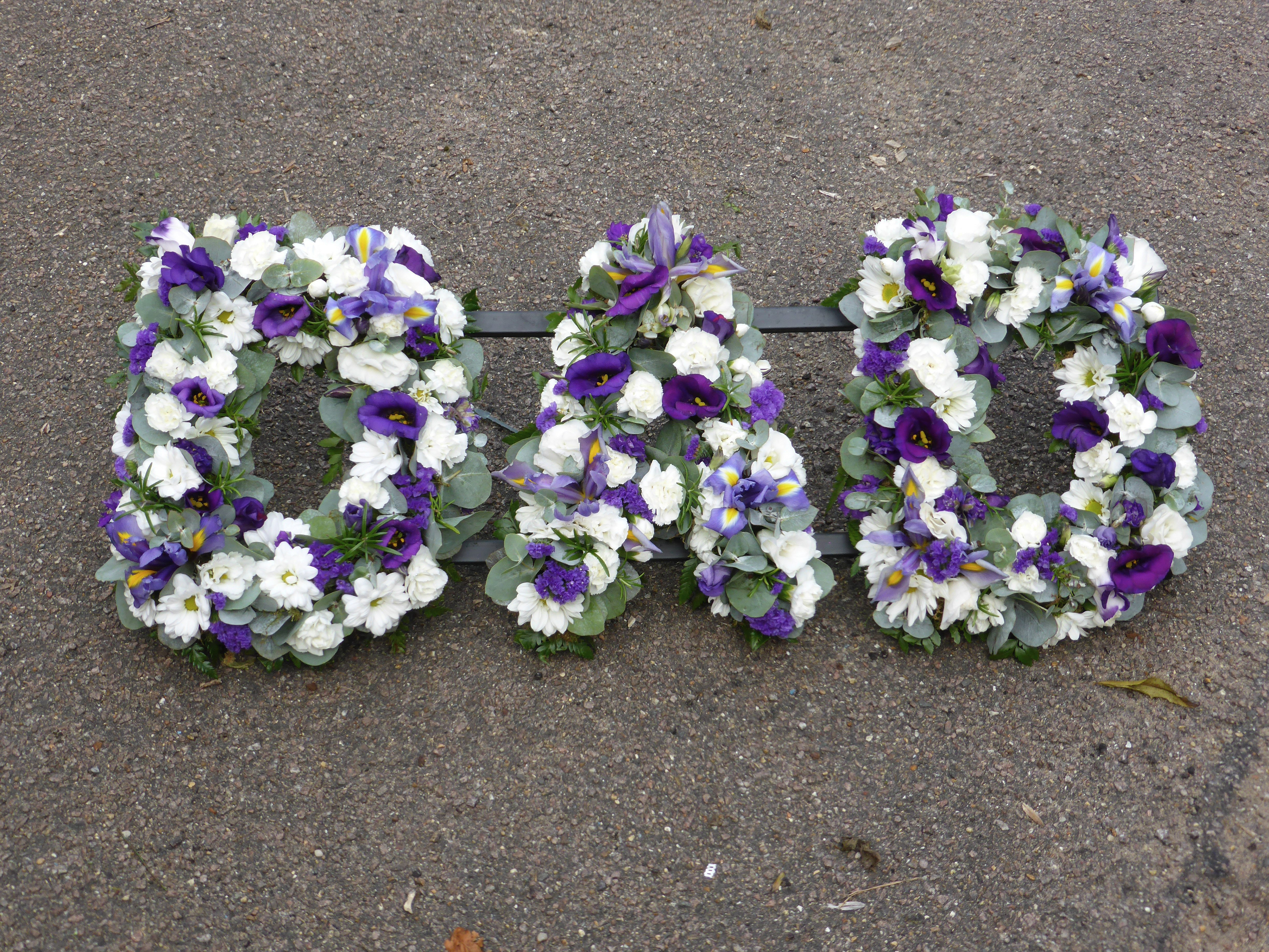 Family funeral tribute names funeral names tribute names funeral names 13 dad in purple and white flowers mightylinksfo