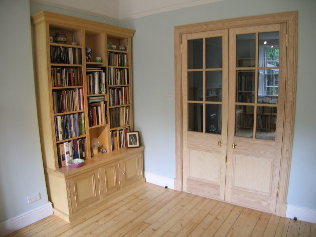 Ash bookcase & doorway