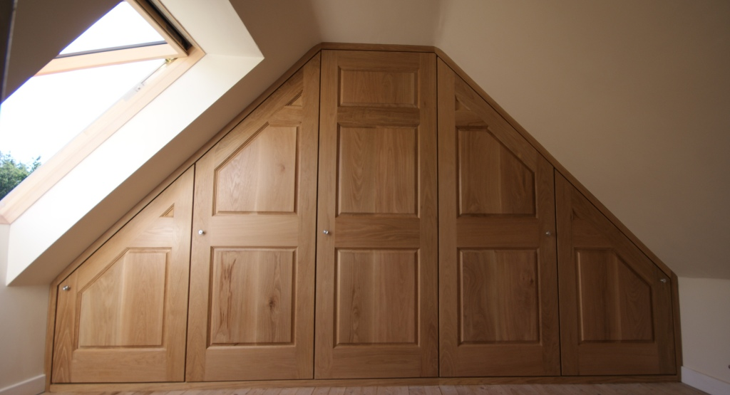 Wardrobe fitted within attic conversion