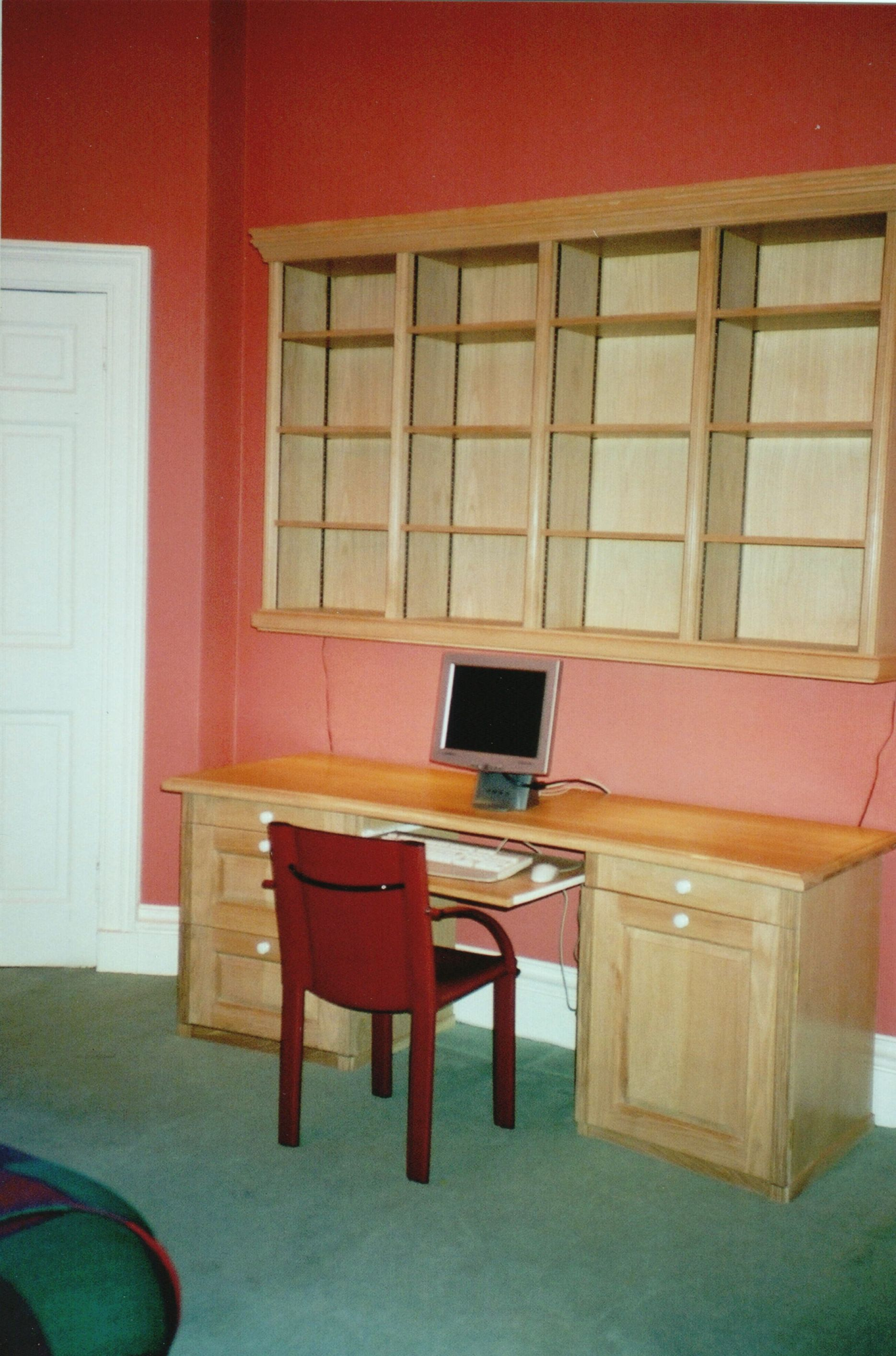 Shown with oak desk