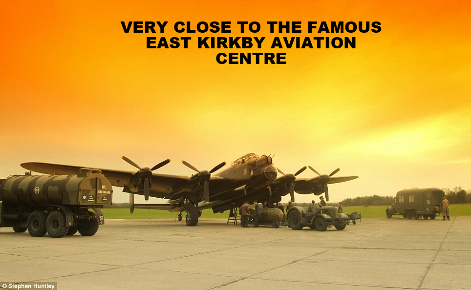 5 mins from east kirkby aviation centre / museum