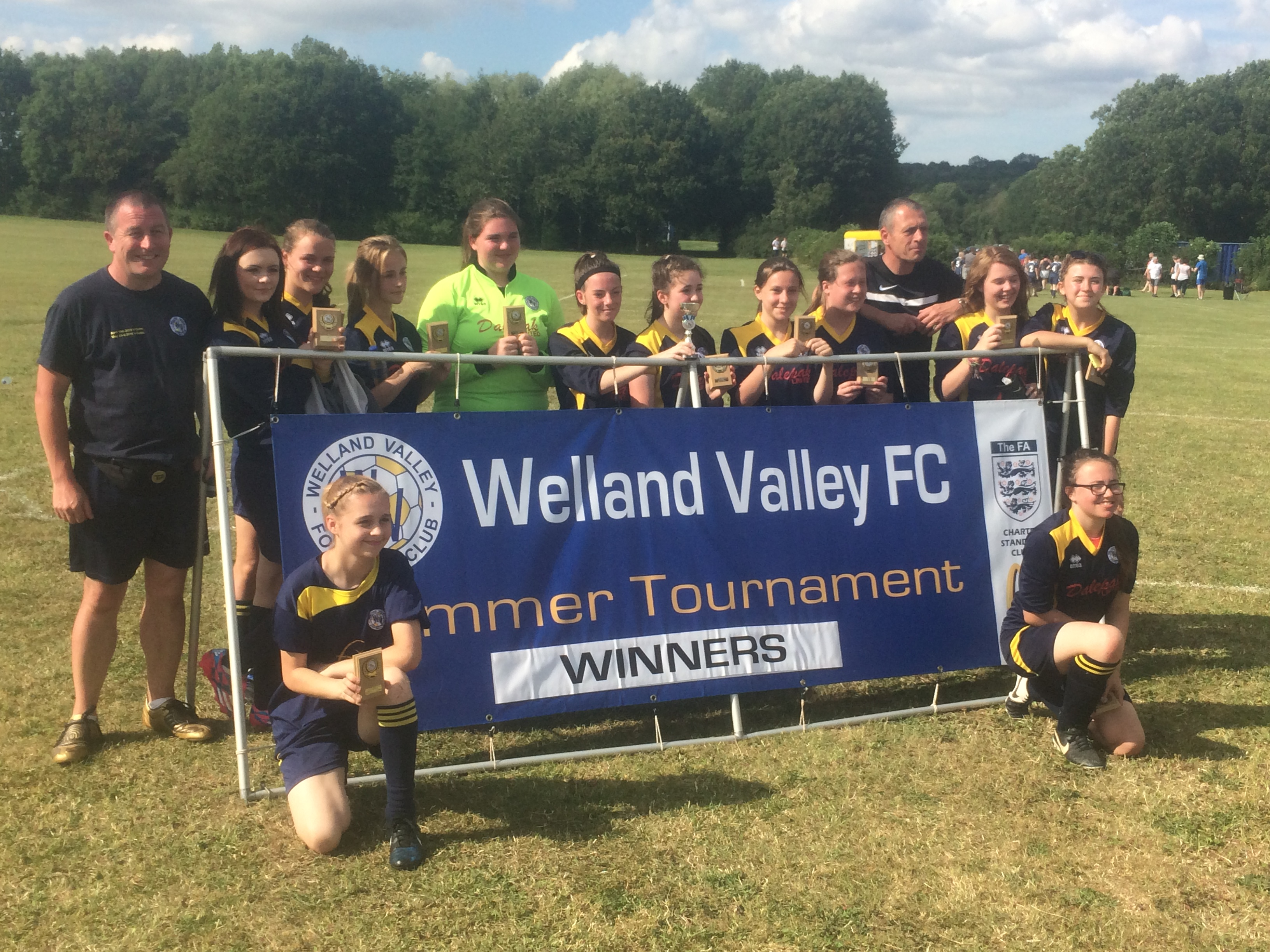 Supporting Welland Valley Girls Team 2016