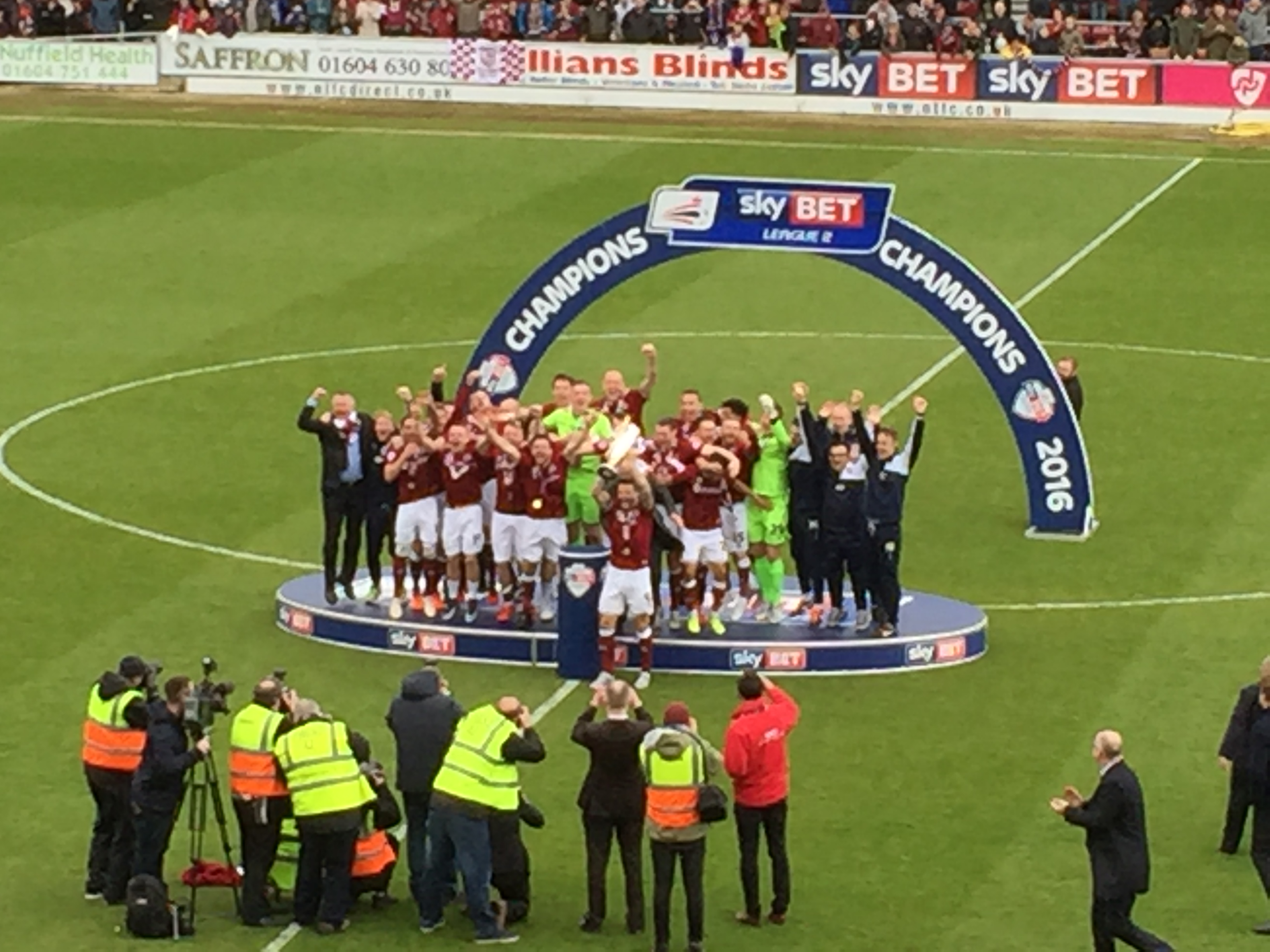 "Proud Day with ""The Cobblers"" - League Two Champions 2016"
