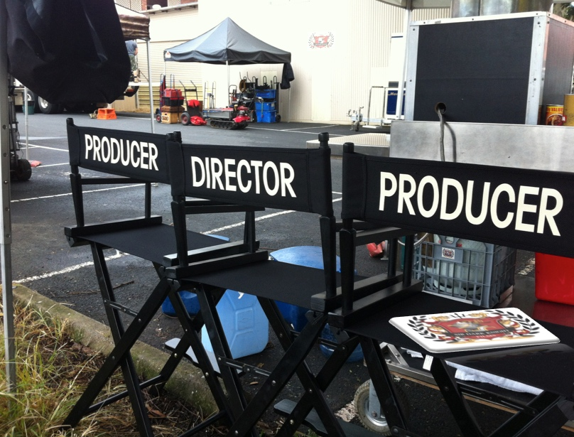 Director and Producers Chairs on Location