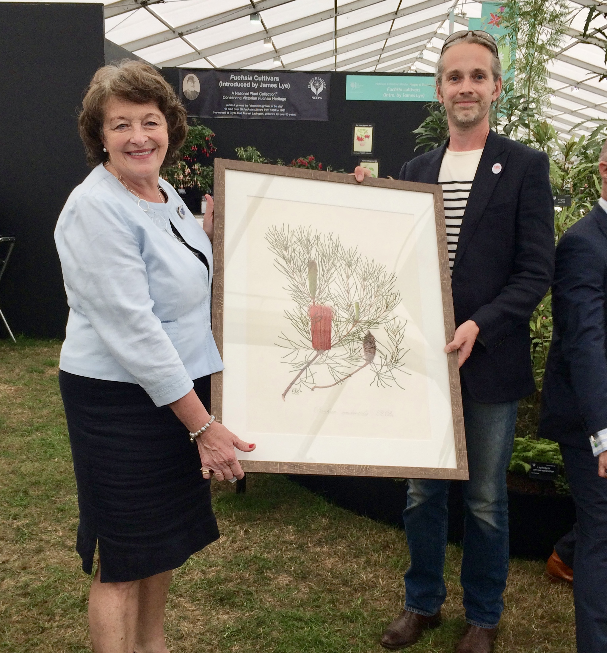 Being presented with a Celia Rosser Banksia print, in thanks