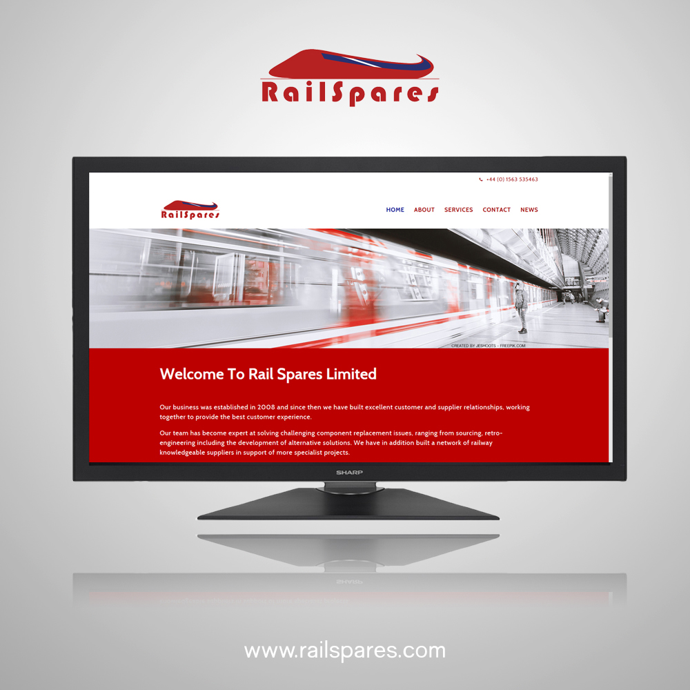 Website Design for Railspares Ltd in Kilmarnock, Scotland