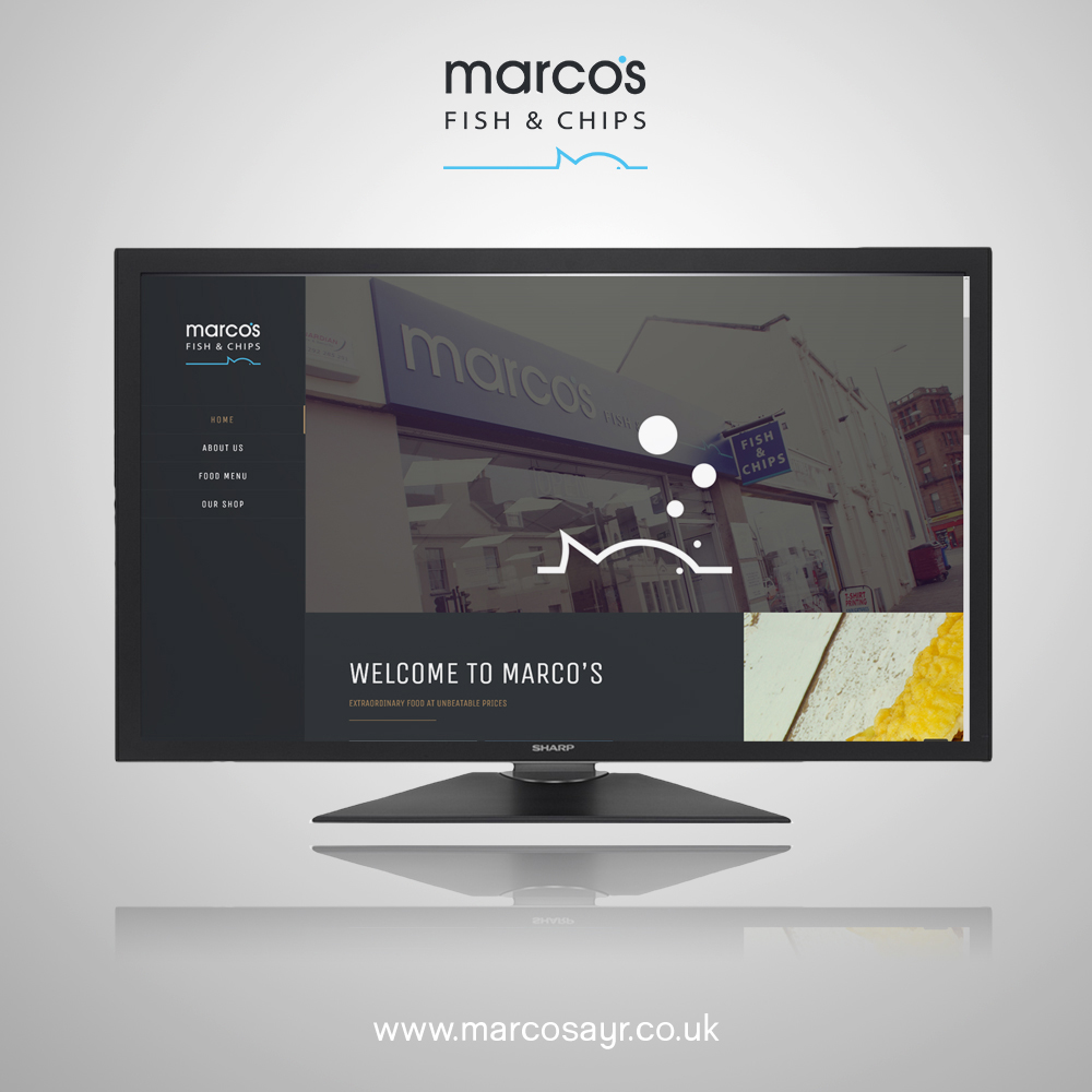 Website design for Ayr company: Marco's Fish and Chips