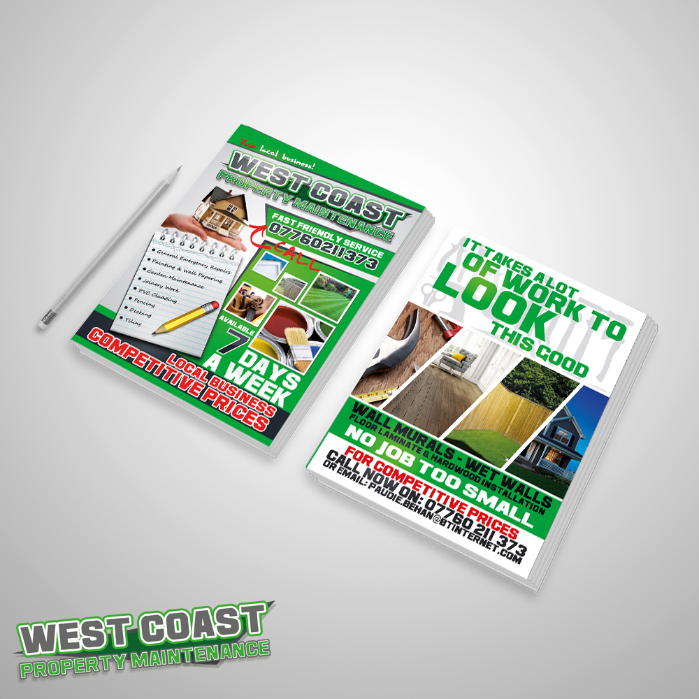 Flyer design for Aberdeen based company: West Coast Property Maintenance.