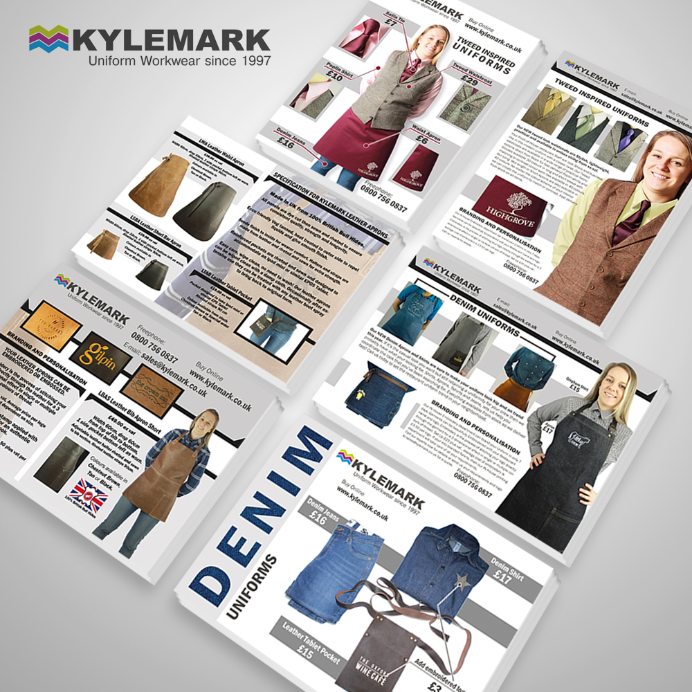 A flyer set I designed for Kylemark in Ayr,Scotland