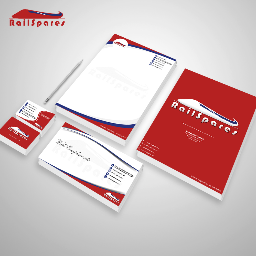 A stationary set I designed for Railspares Ltd in Kilmarnock,Scotland