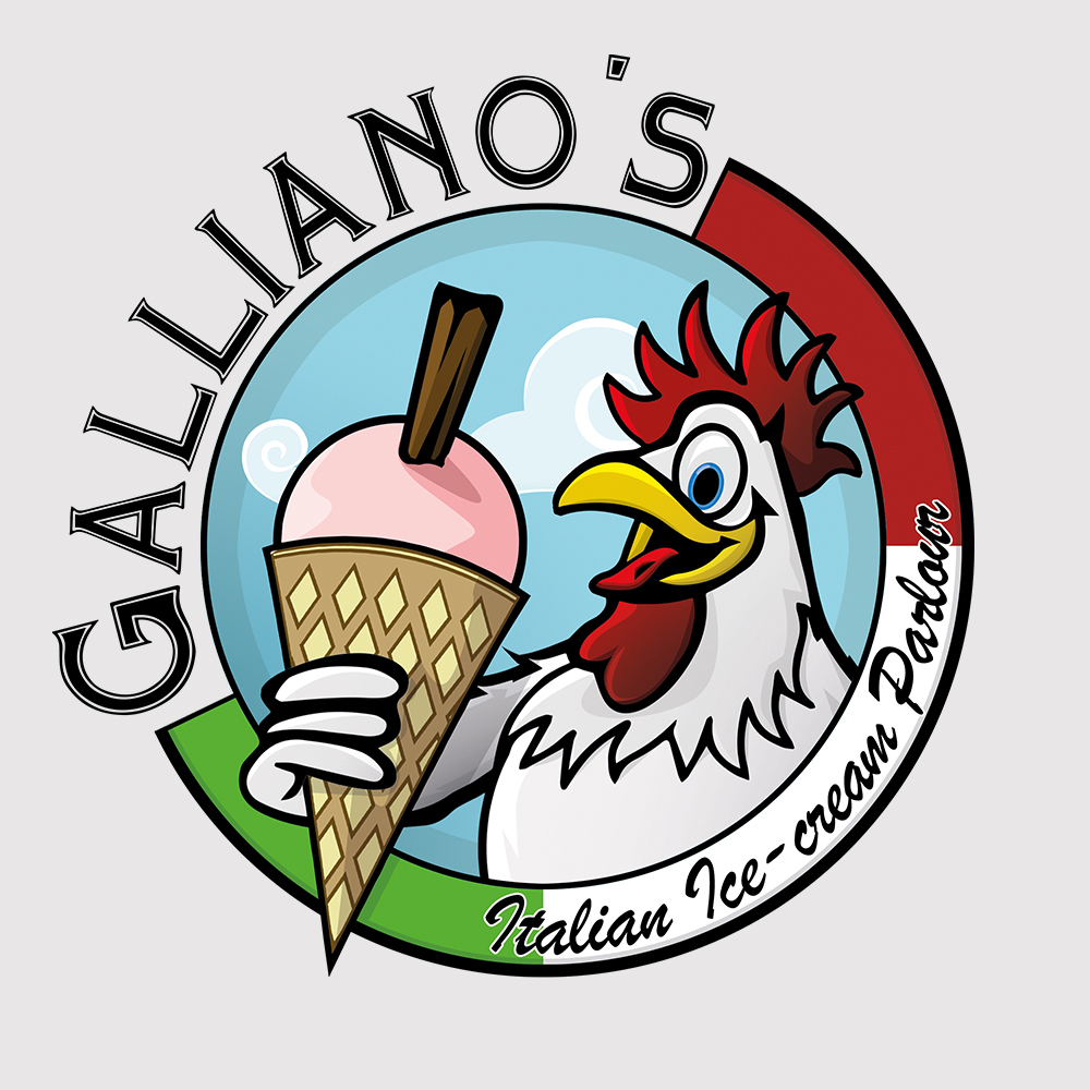 Logo design for Carlise Company: Galliano's Ice Cream Parlour