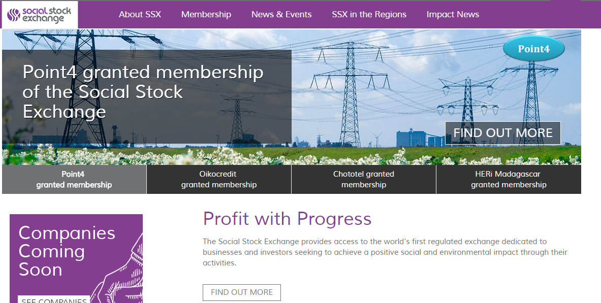 Point 4 joins Social Stock Exchange