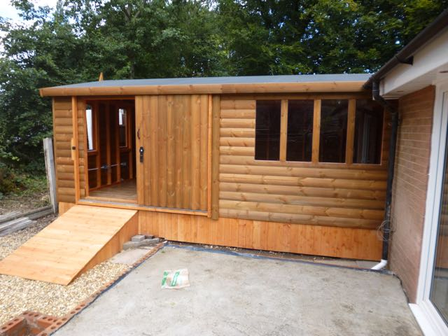 Heavy Duty Log Garage