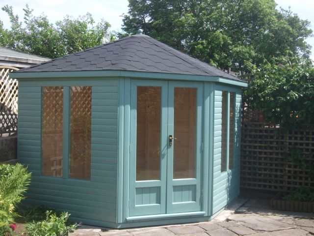 sea green summerhouse