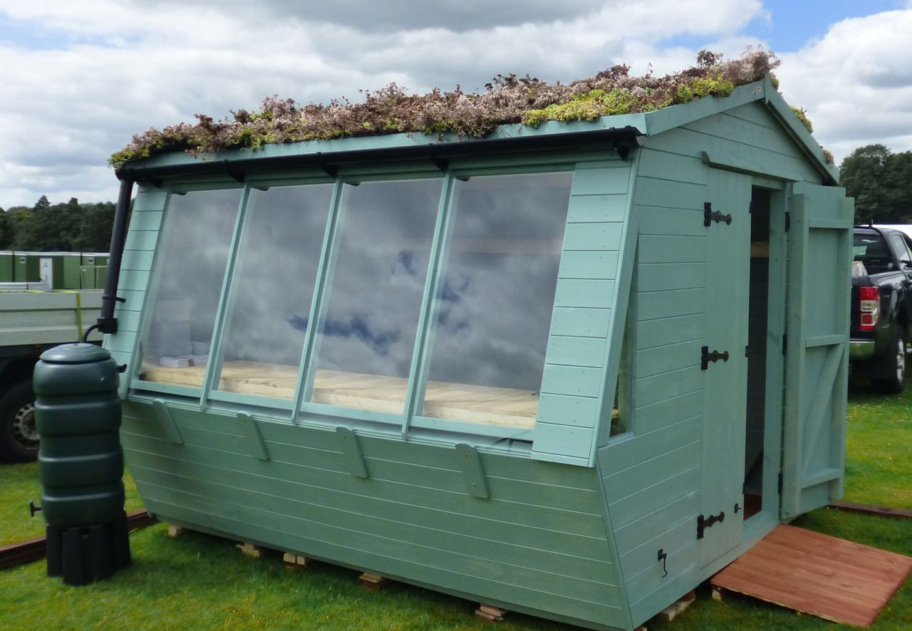 SEDUM COVERED POTTING SHED
