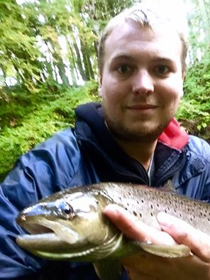 A fine 4lb Sea Trout taken on the lure from town beat, 20/10/16, the fish was returned after the photo to carry on upstream!