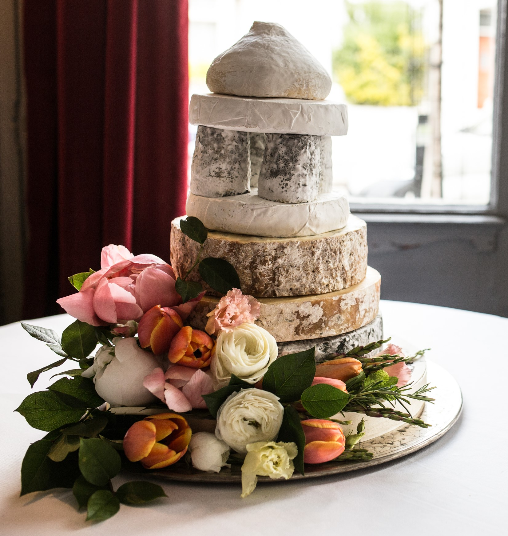pistachio & pickle cheese wedding cake