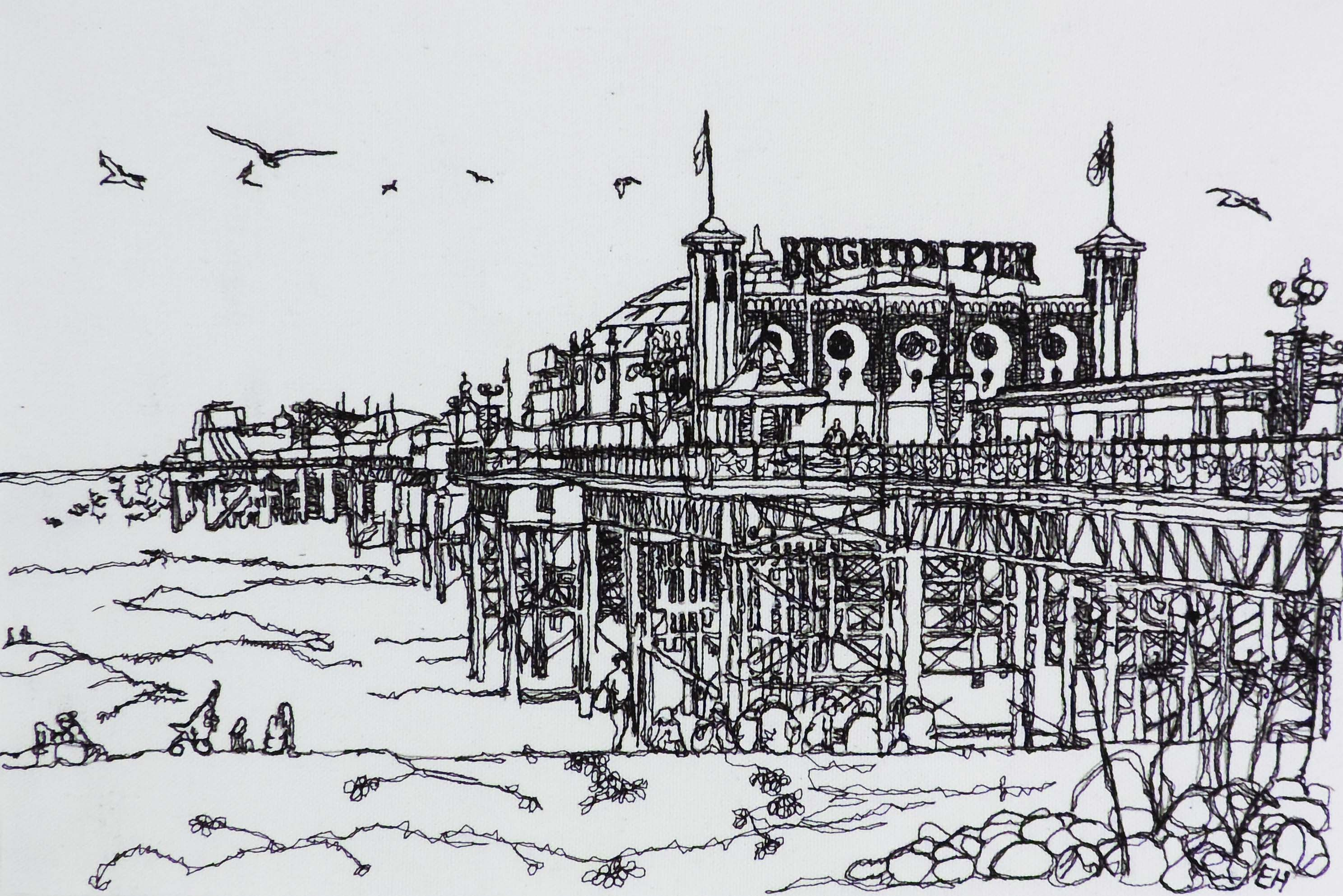 Palace Pier Embroidery
