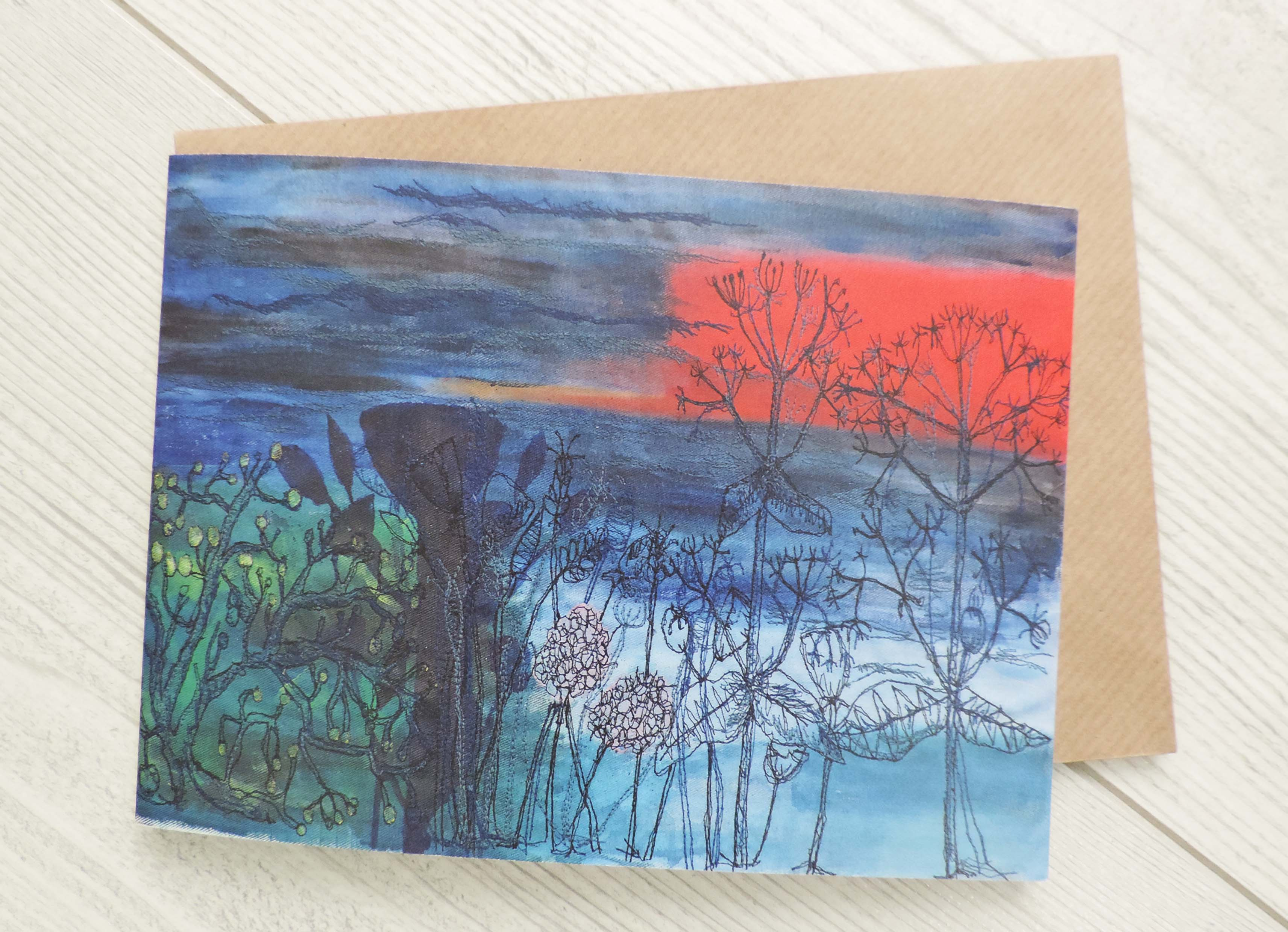 Sunset Sea View Greeting Card